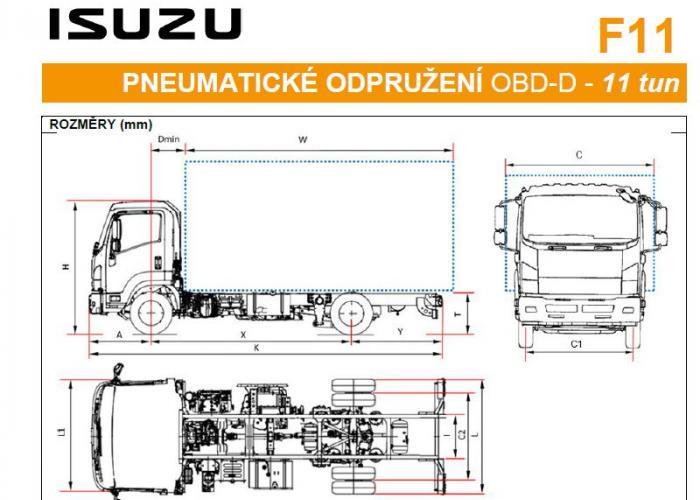 Katalóg Isuzu F11 Pneumatická odpružení